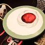 sedie e tavolo Oblo e Studio 54 - cilegia Bellandi