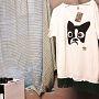 t shirt Oblo con Frange